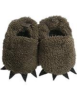 Vanbuy Baby Boys Girls Bear Paw Animal Winter Slippers Boots Infant Crib Shoes WB28-Dark Green-L