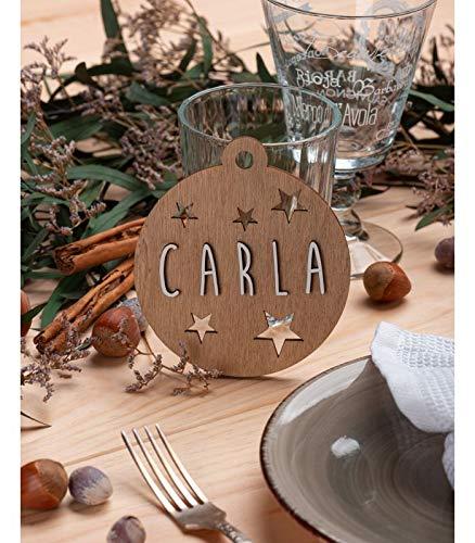 VINTIUN Bolas de Navidad Personalizadas con Nombre, Decoraci