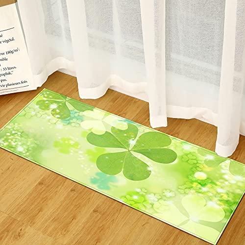 OPLJ Alfombrillas de Cocina con Estampado Floral, Alfombrillas de decoración del hogar para Dormitorio y Sala de Estar, alfombras...