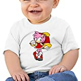 NOT Sonic The Hedgehog Amy Rose T Shirt Baby Short Sleeves Infant