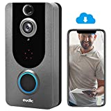 Video Doorbell Camera Wireless WiFi 1080P [2021 Upgraded] No Monthly fee IP5 Waterproof WiFi Security Camera Real-Time Video for iOS & Android Phone