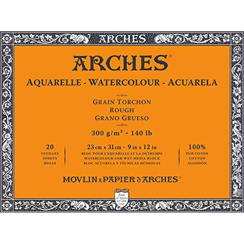 Block, 4 l, 23 x 31 cm, 20 Stück, Aquarelle, 100% dick, 300 g, Weiß