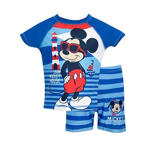 Disney Mickey Mouse - Costume da Bagno per Ragazzi a Due Pezzi Mickey Mouse - 18-24 Mesi