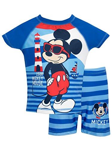 Disney Bañador de Dos Piezas para niño Mickey Mouse 18-24 meses Azul