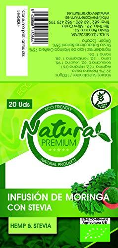 Natura Premium Moringa - Infusion Con Stevia 20 Uds Bio 21 g