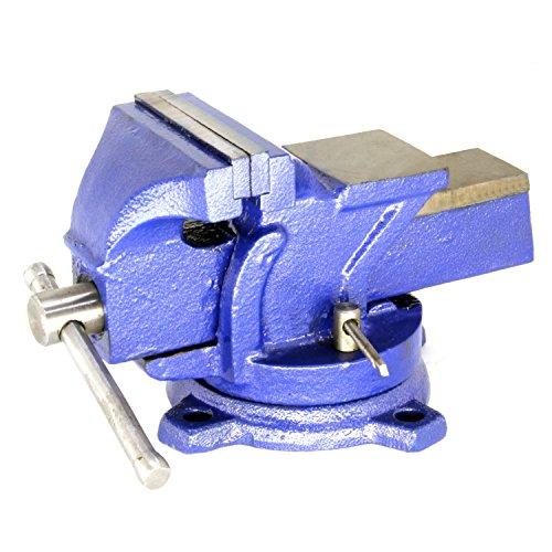 HFS(R) 万力 ベンチバイス 口幅:100mm 最大開口:75mm 360度回転 作業台 エンジニア アンヴィルバイス 回転 加工 固定 接着 強力 卓上 テーブル 締め 工具 DIY リードバイス