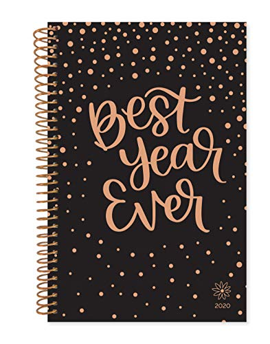 """bloom daily planners 2020 Calendar Year Day Planner Book - Soft Cover Weekly/Monthly Dated Agenda Organizer (January 2020 - December 2020) - 6"""" x 8.25"""" - Best Year Ever"""