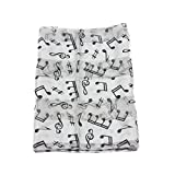 Mytoptrendz® White with Black Music Notes & Clef Print Ladies Scarf Stole Wrap