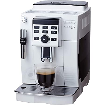 【セミスタンダードモデル】デロンギ(DeLonghi)コンパクト全自動コーヒーメーカー ホワイト マグニフィカS ミルク泡立て手動 ECAM23120WN
