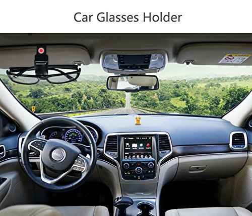 halova coche gafas soporte, Clip de visera del coche gafas de sol Ticket Holder, Soporte de doble gafas de sol gafas Tarjeta Clip Dinero En Efectivo soporte para Auto Sun Visor/de purga de aire