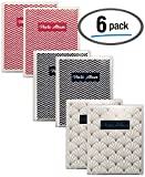 Better Office Products 48 Photo Mini Photo Album, 4 x 6 Inch, Pack of 6, Clear View Cover with Removable Decorative Inserts, Holds 48 Photos, 6 Pack