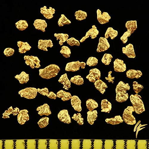50 Stück echte Goldnuggets aus Alaska mit Echtheitszertifikat