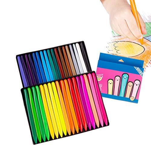 Suszian Crayones para Colorear, 36 crayones Triangulares de Colores Creativos Lavables y no tóxicos para niños Que pintan crayones de Cera