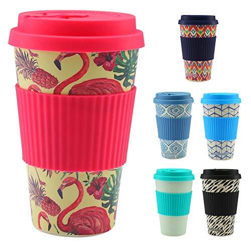CasaBasics Designer Kaffeebecher to Go aus nachhaltigem Bambus   Kaffee to go Becher ist wiederverwendbar, Vegan, umweltfreundlich, lebensmittelecht und geeignet für die Spülmaschine   450ml / 15oz