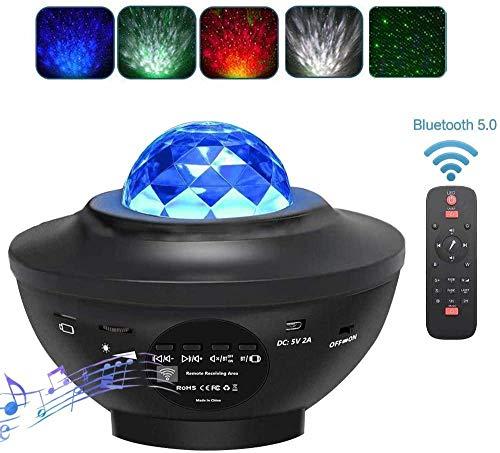 Sterrenprojector Nachtlampje LED Sterrennachtlicht Projector Ingebouwde Bluetooth-luidspreker Geluidssensor Afstandsbediening Projectorlamp voor Baby Kinderen Kinderen Slaapkamer Woondecoratie