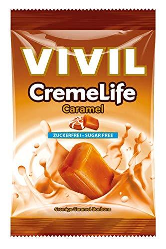 Vivil Creme Life Classic Caramel Geschmack ohne Zucker 110g 5er Pack