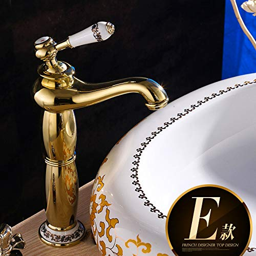 Best Prices! TTOOTAP FaucetAntique Copper Hot And Cold Water Faucet European Basin Faucet Retro Blue...