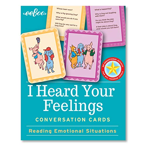 eeBoo I Heard Your Feelings Conversation Flash Cards