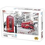 Deeabo 1000 Piezas Vistas Vistas Rompecabezas para Adultos Rompecabezas de Cartón Juegos Educativos Juguete Educativo de Descompresión Regalo Creativo para Niños Adultos de Impresión de Londres