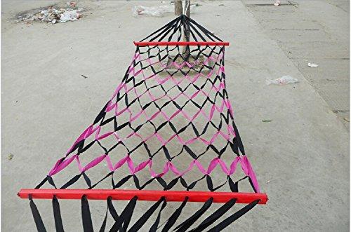 Ganbo Netted Amache Multicolore Cintura con Legno Spreader Bar (Colore Casuale)