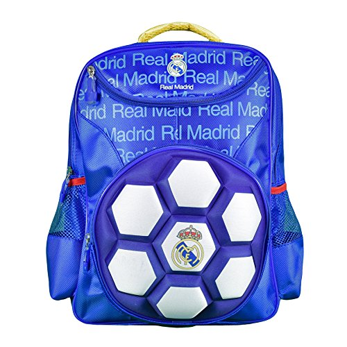 Real Madrid Kid's backpack With Raised ball Design