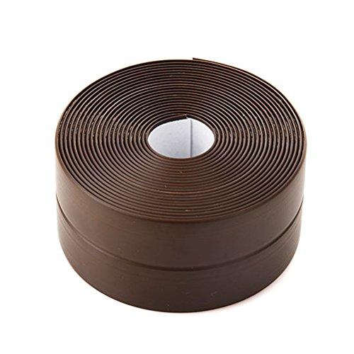 DEVILMAYCARE Tape Caulk Strip Seal for Toliet Bathtub, Sink, Kitchen, Wall Edge, Self Adhesive Corner Liner 126''x1.57'' (Brown)