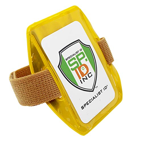 Heavy Duty Reflective Yellow Armband Ski Pass Holder