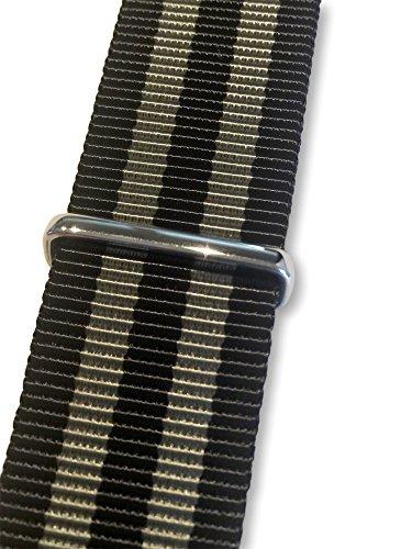 BluShark - The Original Premium Nylon Watch Strap - Multiple Sizes and Styles - 20mm James Bond (Black/Gray)
