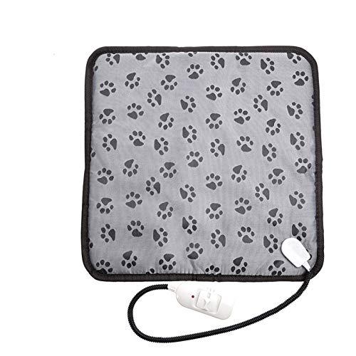 Rubyu Haustier Heizkissen Heizmatte wasserdichte Heizdecke Kauen Beständig Stahlkabel für Katzen und Hunde, Katzendecke Erwärmung Matte Beheizte Decke