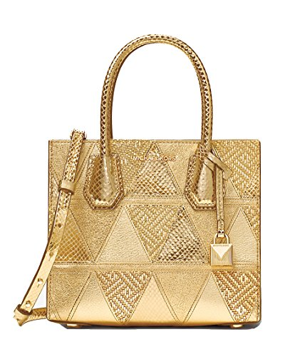MICAHE KORS ELLIS Handtasche und Umhängetasche MERCER GOLD vergoldet 22X19X10cm neu
