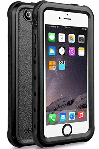 iPhone 5 5S SE Waterproof Case, 【2016】 Shockproof Dropproof Dirtproof Rain Snow Proof Full Body Protective Cover IP68 Certified Underwater Case Built-in Screen Protector for iPhone 5S 5 SE (Black)