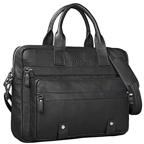 STILORD 'Leander' Elegant Business Bag Large Leather for 15,6 inches Laptop/MacBook...