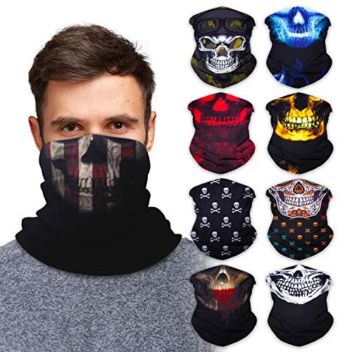 Neck Gaiter Face Mask Bandana (9 Pack) - Neck Gators Face Coverings for Men & Women I Neck Gator Masks