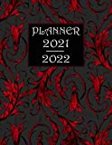 PLANNER 2021-2022: Two Year Gothic Vampire Red Theme Weekly Agenda Calendar Notebook. Large Size (8.5 x 11)