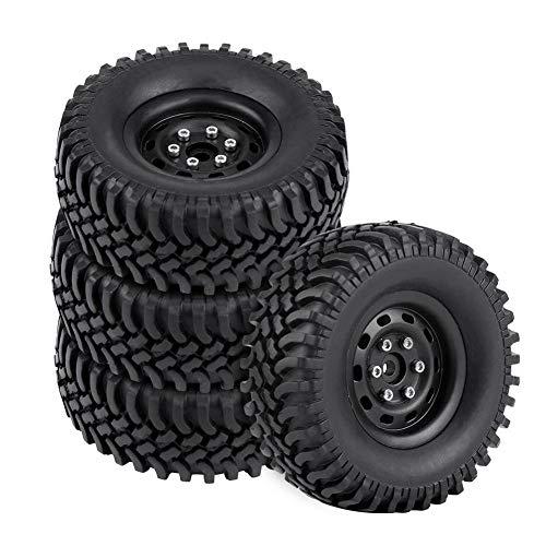 Dilwe RC Modellauto Reifen, 4 Stück Rad Reifen Gummireifen für 1/10 RC Crawler Truck Car