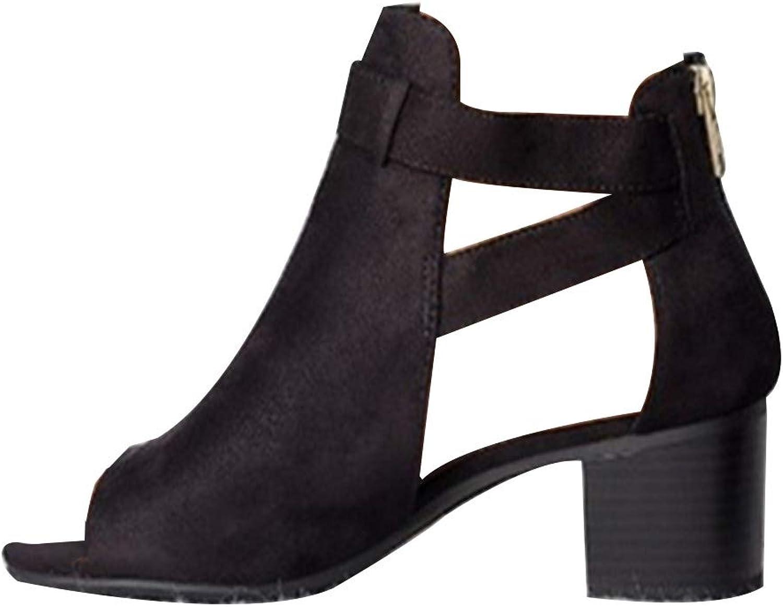 Fulision Women's Fashion Buckle Sandals Hollow high Heel Open Toe Dress shoes