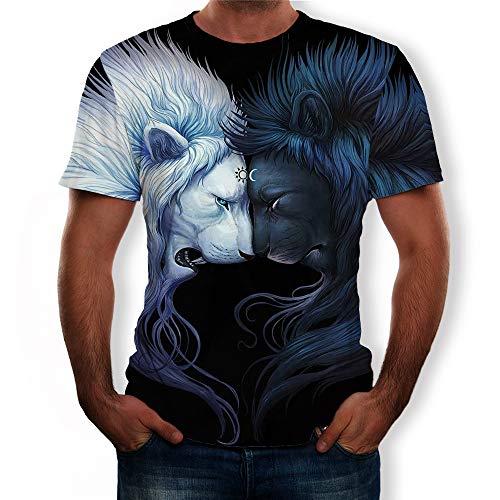 Mannen T-shirt 3D, Mens Gepaste T-shirt van de zomer T-shirts Blouse koele grappige Gift Loose Fit 3D T-shirt voor Homes Work Outdoor Sports,3,xl