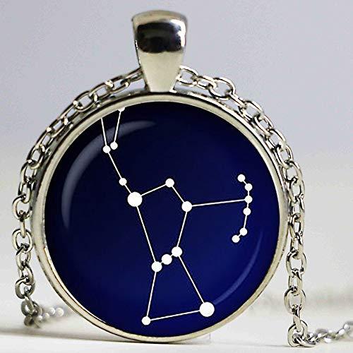 Orion Sternbild Glas Anhänger Nachthimmel Halskette Sterne Astronomie Weltraum Schmuck Glascabochon Anhänger versilbert