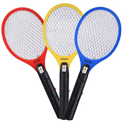 Deuba 3X Fliegenfänger Fliegenklatsche Insektenvernichter Insektenfalle elektrisch - doppeltes Sicherheitsschutzgitter