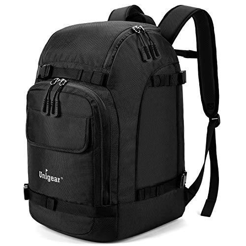Unigear Ski Boot Bag, 50L Ski Boot Travel Backpack for Ski Helmet, Goggles, Gloves, Skis, Snowboard & Accessories (Black)