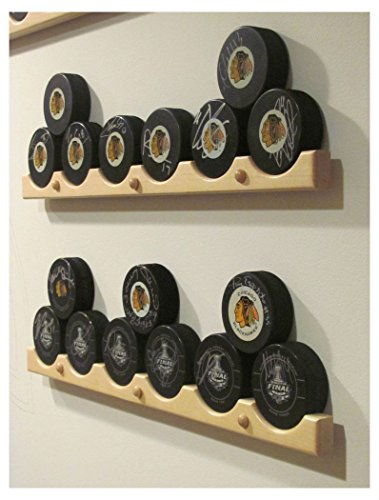 Hockey Puck Display Case Holder/Rack (6)