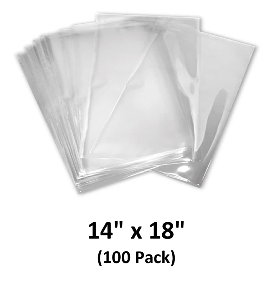 14x18 inch Odorless, Clear, 100 Guage, PVC Heat Shrink Wrap Bags for Gifts, Packaging, Homemade DIY Projects, Bath Bombs, Soaps, and Other Merchandise (100 Pack)   MagicWater Supply