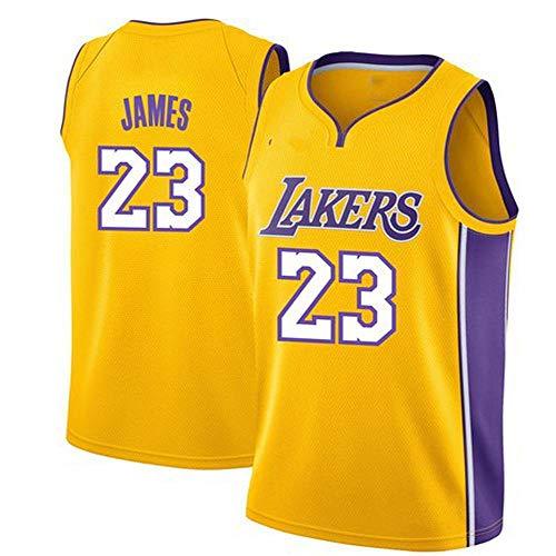 QAZW NBA Baloncesto Uniformes Camiseta de la NBA Lakers de la Nueva Temporada, Lebron James, Uniforme de Baloncesto Retro Sudadera Transpirable Uniformes Maillots Baloncesto A-S