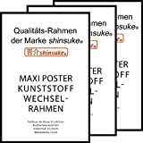 empireposter 3 Stück Wechselrahmen Shinsuke® Maxi-Poster 61