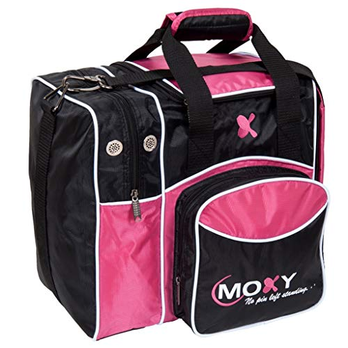 Moxy Unisex-Erwachsene Duckpin Deluxe Tote Bowling Bag Black Armbrust-Paket, pink/schwarz
