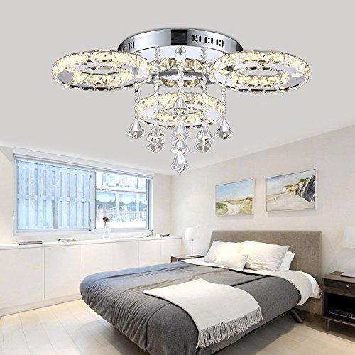 Style home 30W Dekoration Kristal LED Deckenlampe 3 Flammig 3Farben wechsel 6106-3C
