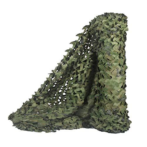 Amiiaz Filet de Camouflage Toile d'ombrage Camouflage Anti-UV Tissu D'ombre Respirant Respirant Filet D'ombrage pour Chasse tir déguisement-10×10m A