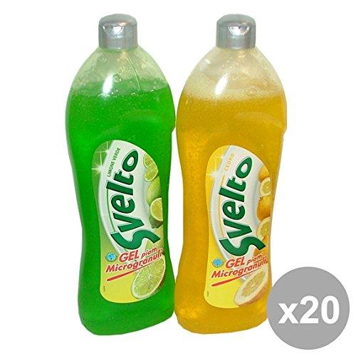 Set 20 SVELTO Piatti 750 ml Cedro e limone Detergenti Casa