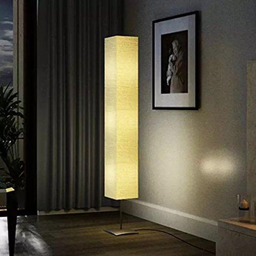 Lámpara de Pie Crema con Soporte,Papel de Arroz,Perfecto para Hall,Dormitorio,Sala de Estar 22 x 22 x 170 cm