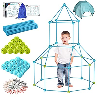 IROO Kids Fort Building Kit 150 Pieces STEM Learning Toys for Boys Girls 5 6 7 8 9 10 11 12 13 Years Old DIY Creative Fort Kits Gift Play Indoor Outdoor from IROO